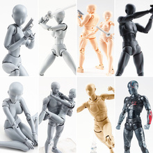 15cm Multi-joint movable Figures SHFiguarts BODY KUN / BODY CHAN Grey / Orange Color Ver PVC Action Figure Collectible Model Toy