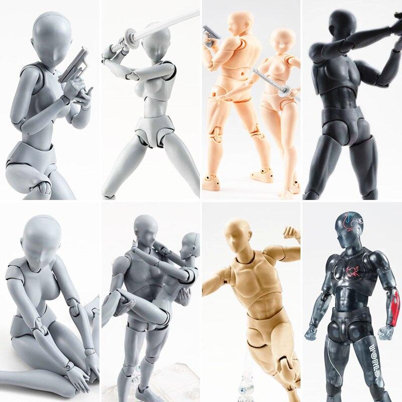 15cm multi-conjunta figuras móveis shfiguarts corpo kun/corpo chan cinza/laranja cor ver pvc figura de ação collectible modelo brinquedo