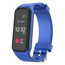 3 цвета Bluetooth Smart Водонепроницаемый Smart запястье динамический монитор сердечного ритма полный Цвет TFT-LCD Экран SmartBand браслет