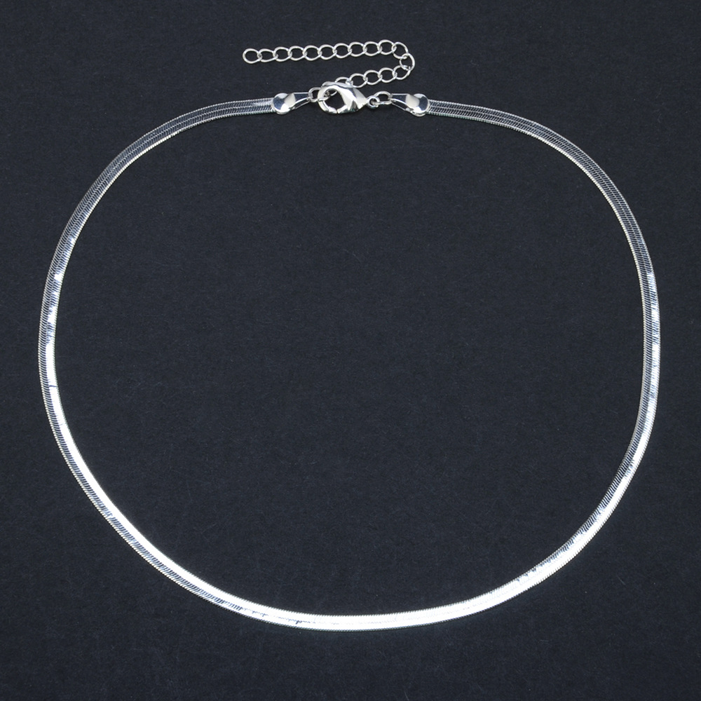 Gold Silver Stainless Steel Good value for money Snake Choker Necklace Chain