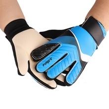Перчатки для футбола, вратаря, полный палец, вратарские перчатки для мальчиков и девочек, противоскользящие, на запястье, для футбола, фитнеса, спортзала, спортивная одежда