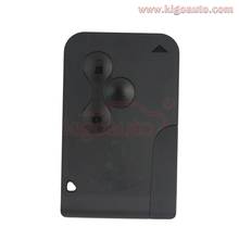 Tarjeta de 434 Mhz pcf7947 chip clave 3 botón para Renault Megane remoto inteligente kigoauto