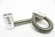 Aluminum Spring Portable Metal Pipe Smoking Tobacco Pipe Arbitrary Bent Smoking Pipe Grinder Smoking Accessories
