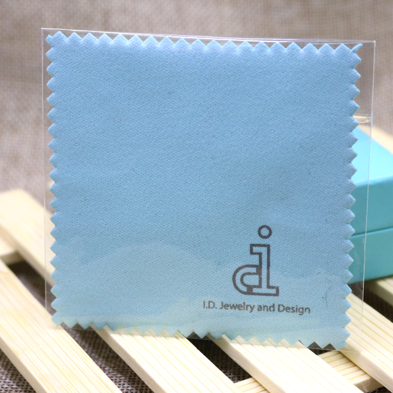 500x Quality Jewelry Cleaning Polishing Cloth Brass Polisher for Platinum Silver Gold Cleaner Free Custom Logo Printed