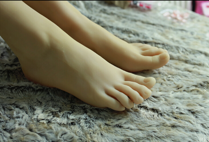 Newest font b sex b font 3D girls foot feet model Simulation worship font b dolls