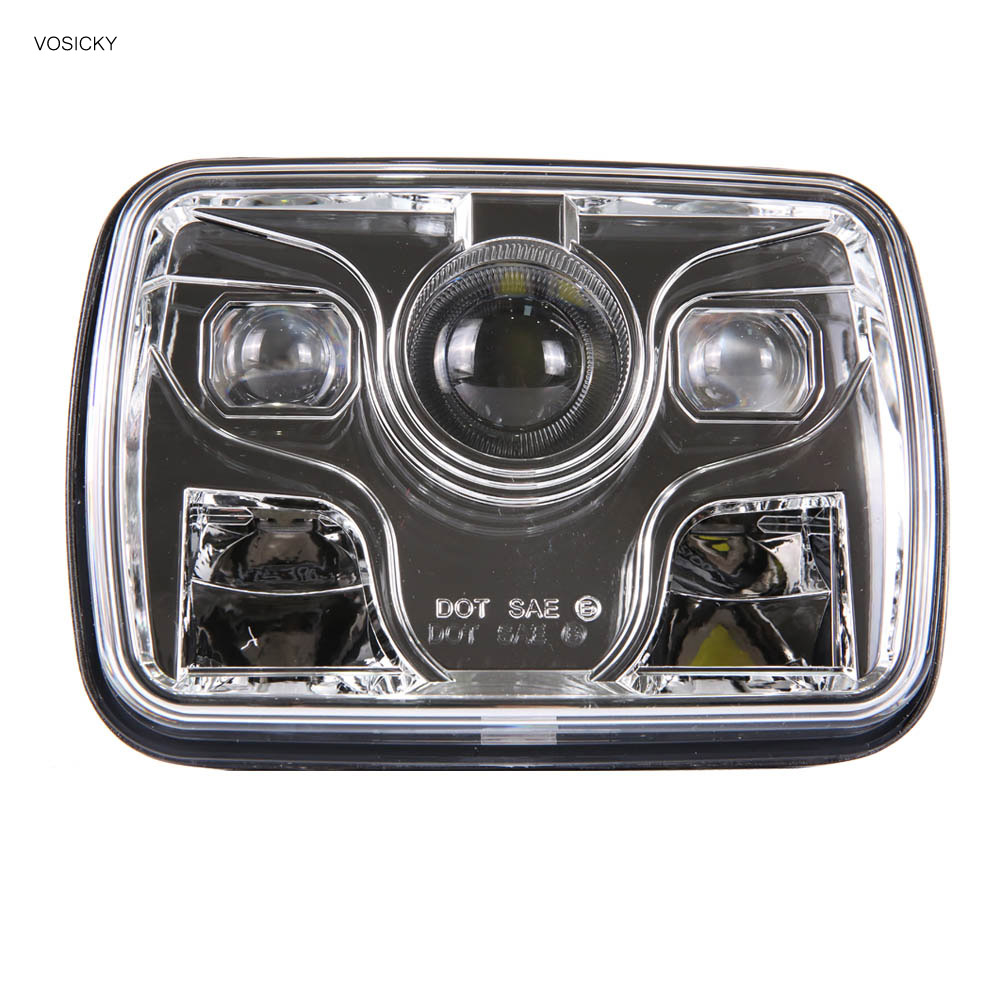 5X7 led headlight Daymaker trucklight High Low Beam Sealed Beam Replacement DOT Chrome for Fits H6014, H6052, H6054