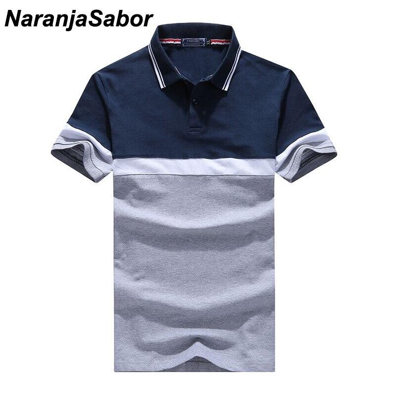 bc1d471a88330 NaranjaSabor Camisa dos homens do Polo de Verão Meninos de Algodão Casuais  Camisas de Manga Curta Masculina de Abertura de cama Collar Polos Homem  Roupas de ...