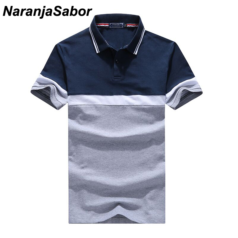 NaranjaSabor Men's Polo Shirt Summer Casual Cotton Boys Short Sleeve Shirts Male Turndown Collar Polos Man Brand Clothing 4XL