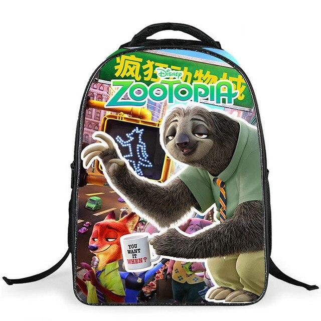 2017 новое прибытие Zootopia унисекс качество школьные сумки для девочек мальчиков детей рюкзак дети мешок mochila infantil для возраста 5-12