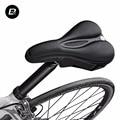 Rockbros mtb lycra + esponja jogo oco saddle capa bicicleta ciclismo saddle assento almofada macia respirável anti-slip 2 tamanho