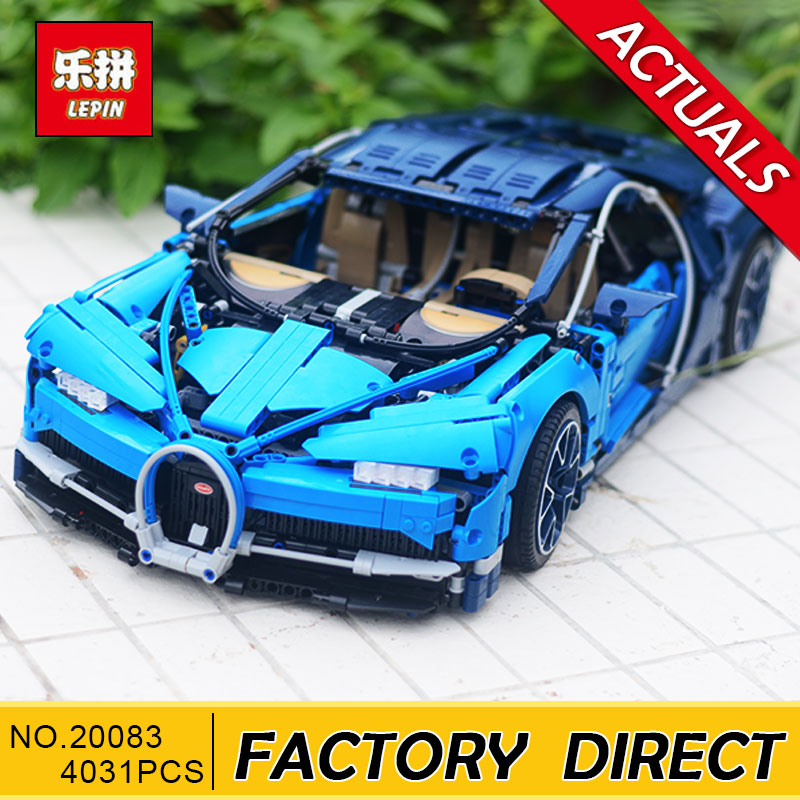 NEW Lepin 20086 20086B 20086C 4031Pcs Technic Series 42083 Chiron Racing Car Set Building Blocks Bricks Kids Toys Car Model Gift lepin bugatti 20086b technic figures chiron racing car sets compatible legoing 42083 model building kits blocks bricks boy toys