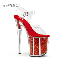Summer New 15cm High Heels Sandals Fine With Waterproof Taiwan Crystal Shoes Dinner Princess Dress Shoes
