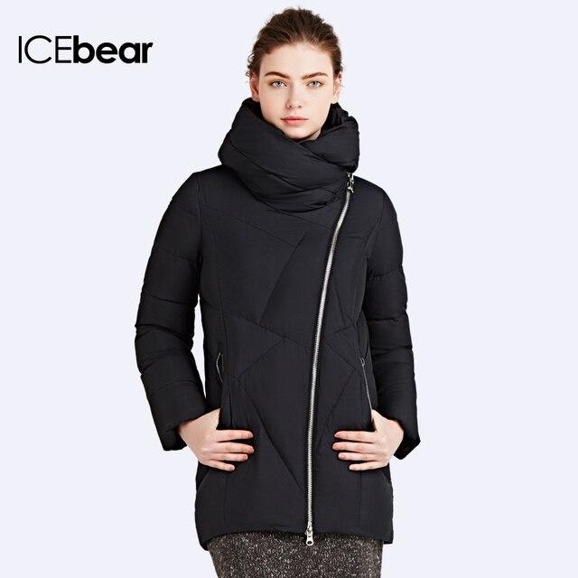 ICEbear 2016 Европейских И Американских Случайные Регулярные Косой Молнией Новый Зимний Био-Свет Вниз Женская Куртка Пальто 16G631