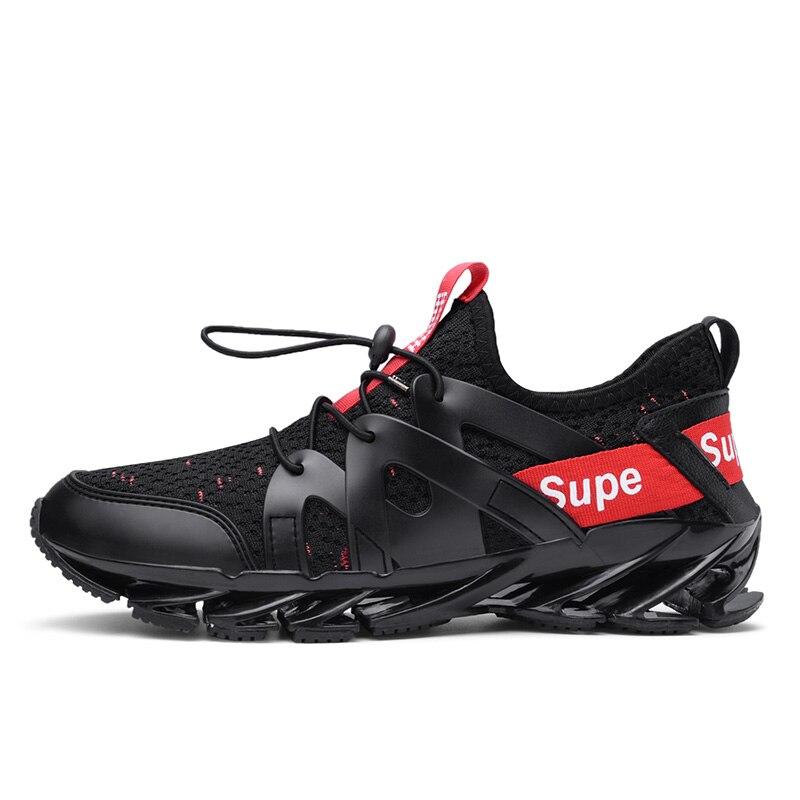 2019 Homens Do Esporte Running Shoes Casais Lace-up Exercício Casal Tênis Malha Respirável Sapatos Carta Tamanho 39-48 tênis para Homens