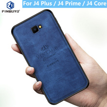 for Samsung Galaxy J4 Plus Case PINWUYO VINTAGE PU Leather Protective Phone Case for Samsung J4 Prime / J4 Core Shockproof Case стоимость
