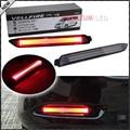 (2) Lente ahumado Rojo 3D Estilo Óptica LED Luces Para Lexus y Toyota Sustitución de Valores de Parachoques Parachoques Reflector Lente Reflectante