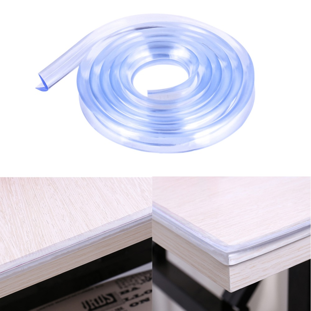 1m Baby Safety Table Desk Edge Corner Protection Strip Baby Collision Proof Edge Guards Soft Transparent Softener Bumper