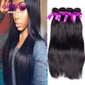 7A Sin Procesar Malasio de la Virgen Del Pelo Recto Queen Hair Products 4 Bundles Barato Del Pelo Humano Teje Malasia Del Pelo Recto
