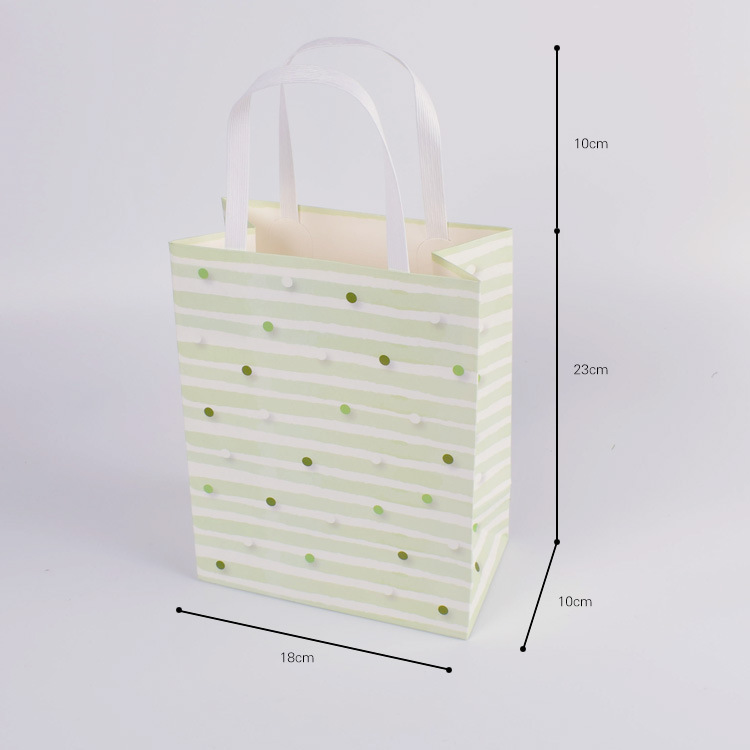 100 Pcs Wedding Paper Bags With Handles Gift Birthday Party Favors Small Bag Present Jewelry Candy Cookie