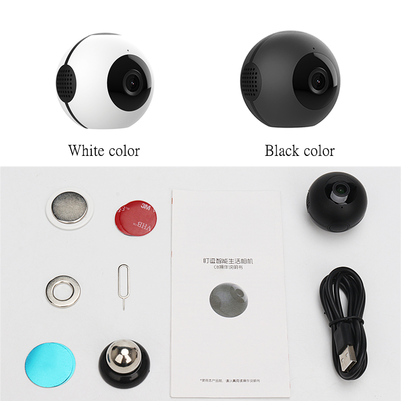 mini wifi camera with hd recording and 140 degree wide angle motion detection