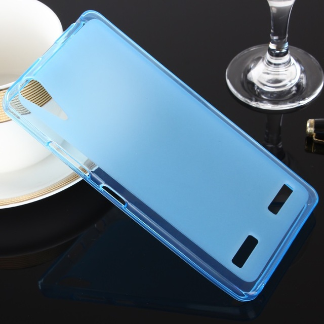 For Lenovo A6010 Case Luxury Transparent TPU Silicone Cover Phone Back