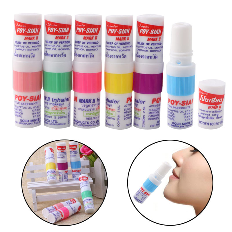 1Pc Poy Sian Mark II Nasal Smell Dizziness Inhaler Brancing Breezy Asthma New