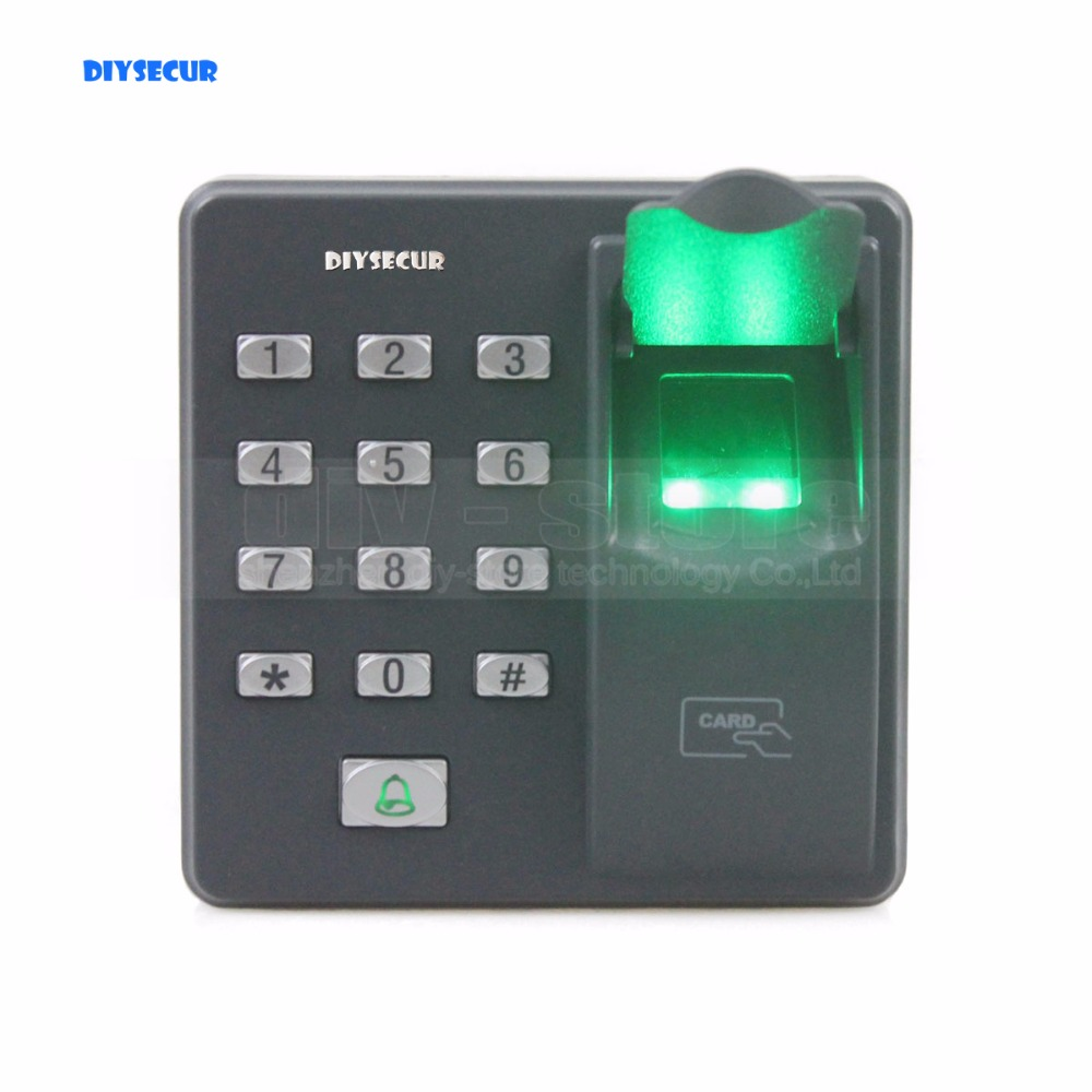 DIYSECUR Biometric Fingerprint Access Control Machine Digital Electric RFID Reader Code Password Keypad System for Door Lock