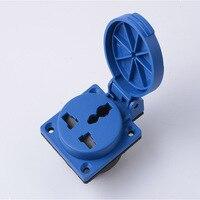16A/220V IP54 UPS power waterproof socket,EU/UK,EN type waterproof socket,PDU socket