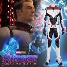 Marvels  Superhero Endgame Avengers Captain America Costume Steven Rogers Cosplay Adult Full Set Halloween Party
