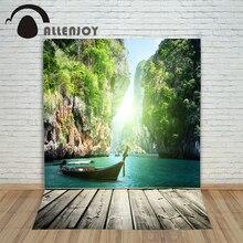 Allenjoy background for photos Wooden landscape children's photographic camera backdrop vinyl