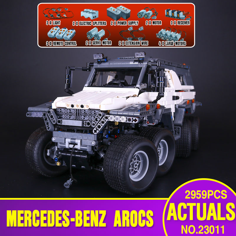 New LEPIN 23011 2959Pcs Technic Series Off-road vehicle Model Educational Toys Building Kits Block Bricks Compatible With 5360 new lp2k series contactor lp2k06015 lp2k06015md lp2 k06015md 220v dc