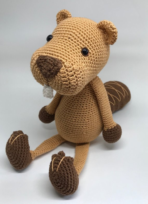 Crochet Toys  Amigurumi  Beaver Model Number 0923