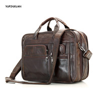 YUPINXUAN Europe Fashion Cow Leather Handbags For Men Genuine Leather Messenger Bags High Capacity Briefcases Laptop