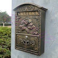 BETOHE European style aluminum crafts hanging bronze coloured decorative mailbox Specialty