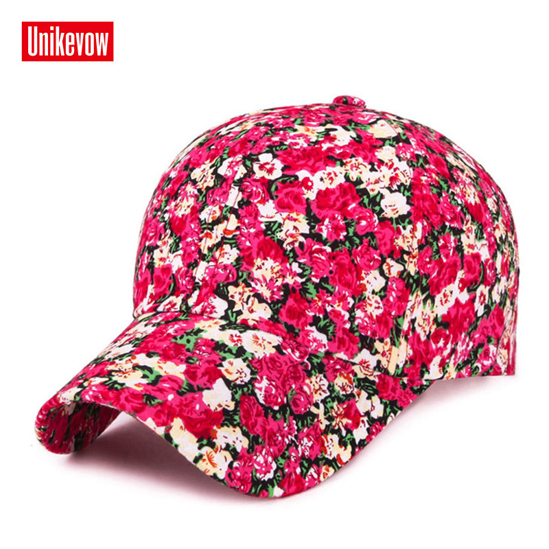 2019 Samll Floral   Baseball     Cap   For Women Summer Beach Fashion Sun hat