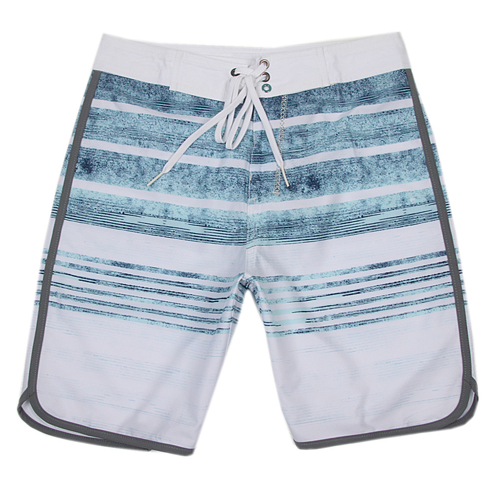 2019 New Phantom Boardshorts Spandex Summer   Board     Shorts   Men Casual Striped Beach   Shorts   Straight Drawstring   Shorts   Hot Sale