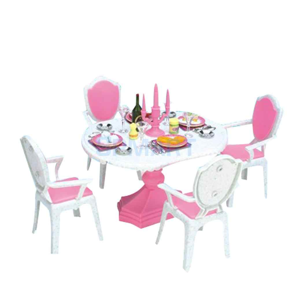MagiDeal Dolls Candlelight Dinner Dining Room Play Set for 1 ...