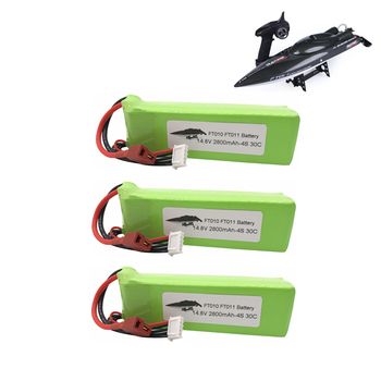 3pcs 2800mah 14.8V BATTERY RC 4s Lipo Battery 14.8V 30C 803496-4s for FT010 FT011 RC boat RC Helicopter Airplanes Car Quadcopter