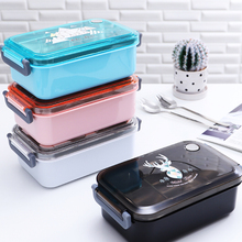 1PC 1100ml 304 Stainless Steel Lunch Box With Bag Microwave Sushi Fruit Grains Bowl Sealed Food Storage Container