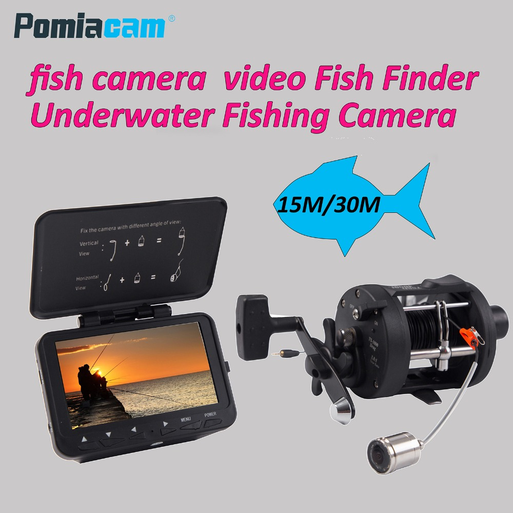 F06A 15M/30M video Fish Finder Underwater Fishing Camera with video recording with 8GB card with fish wheel With aluminum boxF06A 15M/30M video Fish Finder Underwater Fishing Camera with video recording with 8GB card with fish wheel With aluminum box