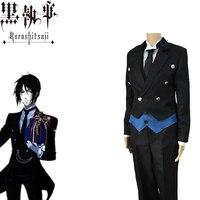 Black Butlers Cosplay Sebastian Michaelis Costume Japanese Anime Unisex Adults Tuxedo Uniforms Costumes Full Set Suit