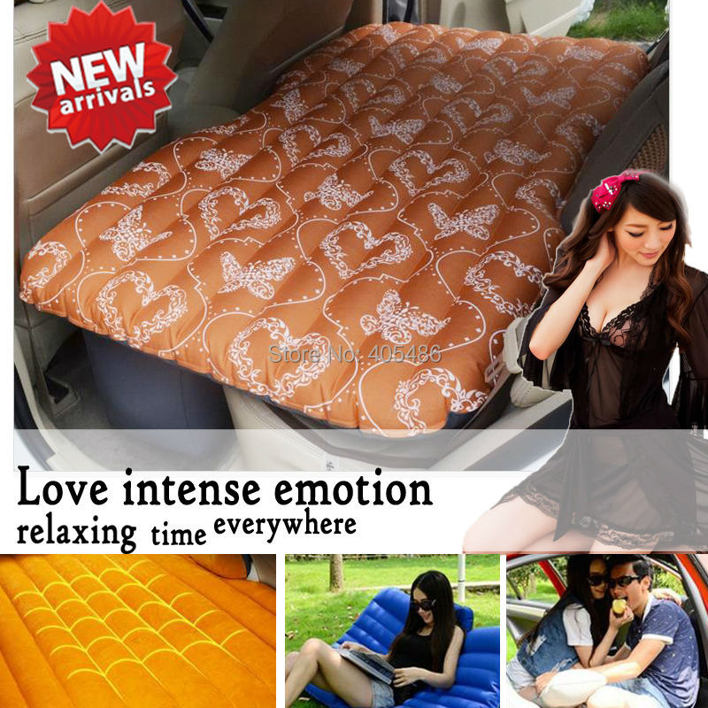 New Inflatable Car Bed Oxford Fabric And Flocking Cloth Inflatable Car Bed For Back Seat Cover Air Mmattress Universal Car Beds цена