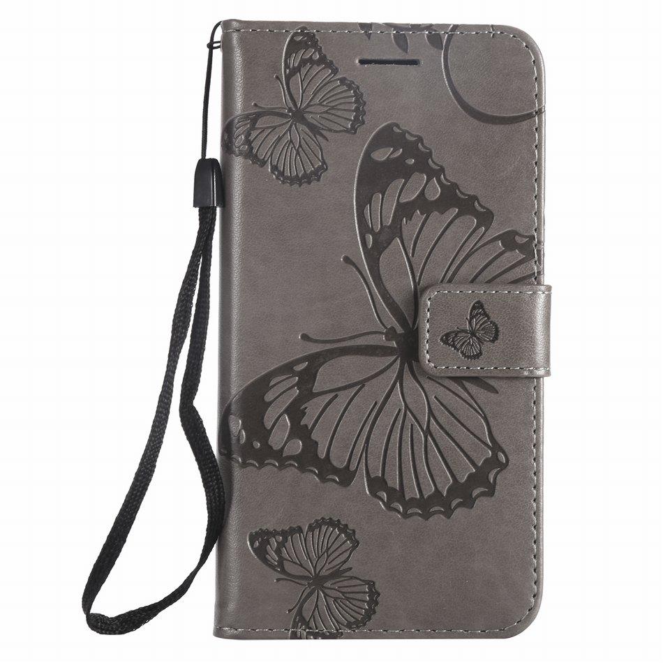 Fundas abatibles con marco de mariposa Para Samsung J2 Pro 2018 J3 J4 Plus J5 J1 2016 J6 Prime J7 2017 J8, Funda de cuero con ranura Para tarjetas DP06Z