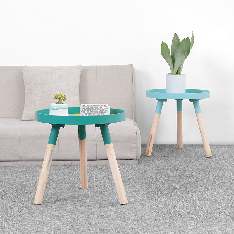 Nordic Modern Simple Round Living Room Tea Table Creative Solid Wood Coffee Table Daily Multifunctional Mini Sofa Side TableNordic Modern Simple Round Living Room Tea Table Creative Solid Wood Coffee Table Daily Multifunctional Mini Sofa Side Table