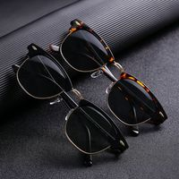 Cubojue Glass Polarized Sunglasses Men Women Glass Sun Glasses for Man Anti Dry Eye Protect UV400 Block Reflect Classic Square