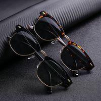 Cubojue Glass Polarized Sunglasses Men Women Glass Sun Glasses for Man Anti Dry Eye Protect UV400 Block Reflect Classic Square