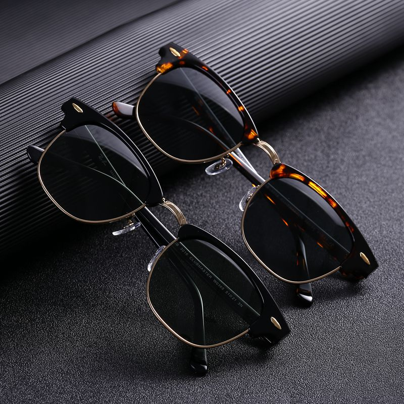 Cubojue verre lunettes de soleil polarisées hommes femmes verre lunettes de soleil pour homme Anti sec oeil protéger UV400 bloc refléter classique carré