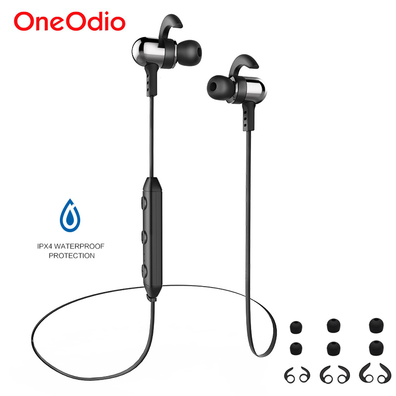 Oneodio Sport Bluetooth Earphones Magnetic Waterproof Running Stereo Wireless Earphone With Mic Bass Headset For iPhone Xiaomi oneodio 4 1 bluetooth headphones sport stereo wired wireless headset with microphone mic noise canceling earphone for xiaomi