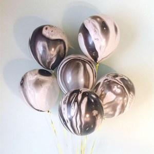 Image 5 - Kuchang Globo de látex redondo decoración para boda cumpleaños, fiesta, suministros de baño para bebé, ágata de mármol de 10 pulgadas, Arco Iris, 12 Uds.