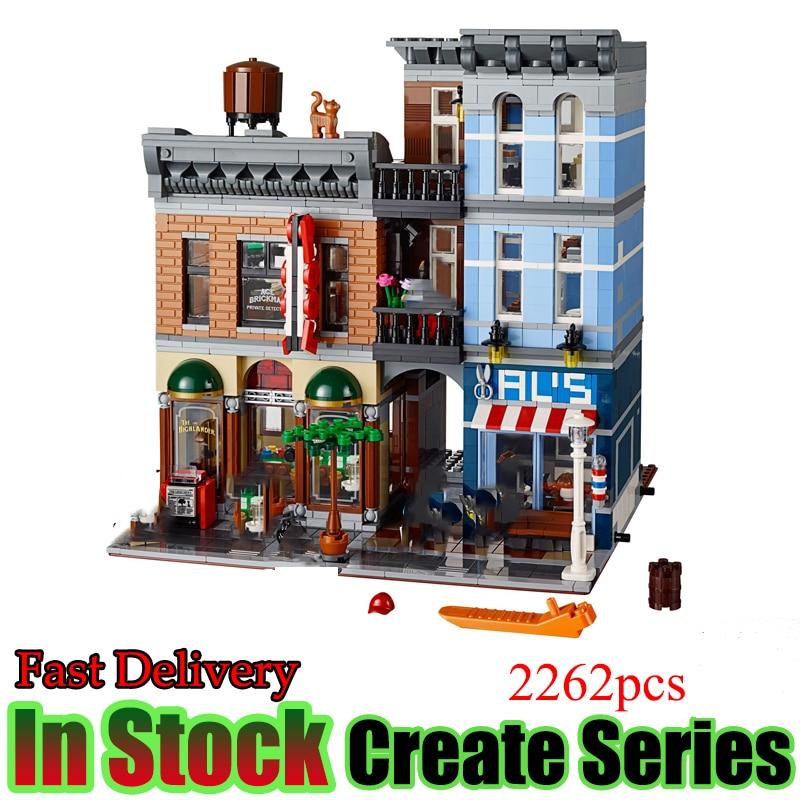 LELE 30008 Creator City Street Series Detective s Office Set Building Blocks Bricks font b Toys
